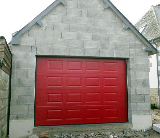 Pose de porte de garage motorisée