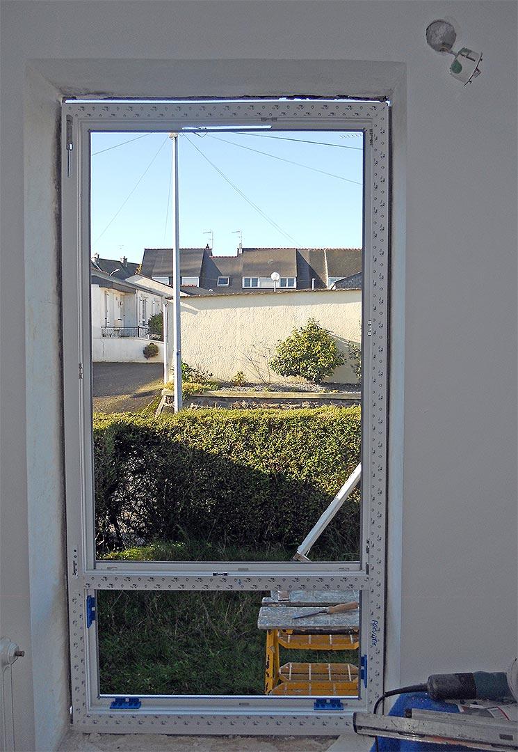 Nouvelle fenêtre vue de l'intérieure