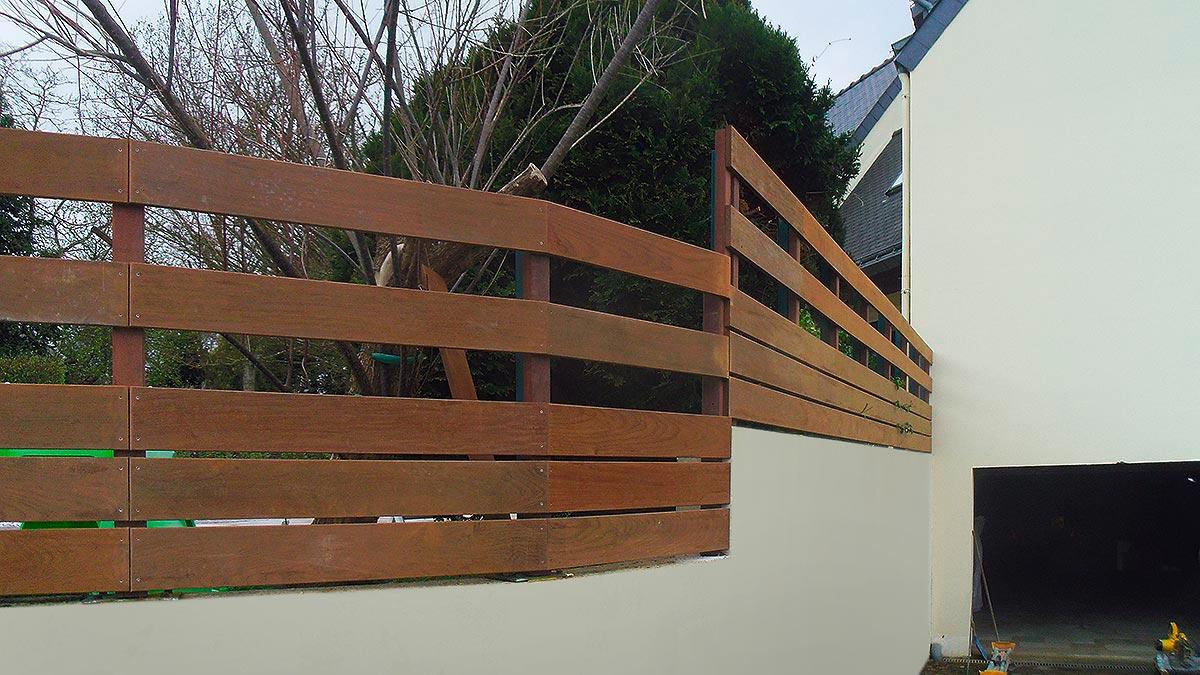 Dinard, pose d'une clôture-1