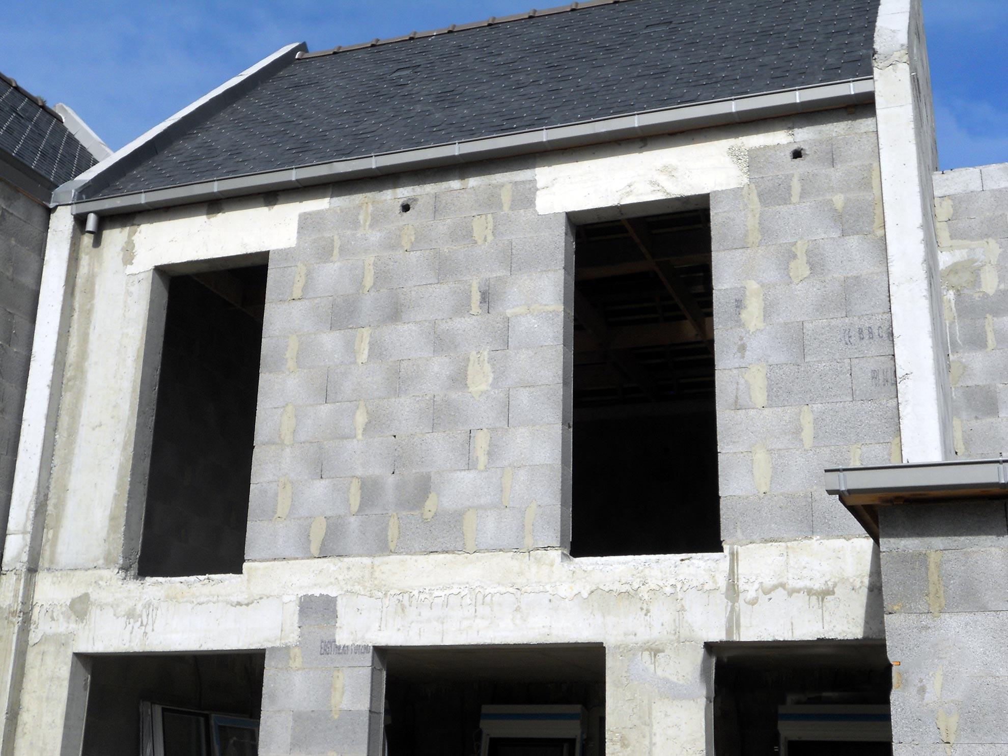Pose de Menuiseries extérieures dans construction neuve à Saint-Malo-1