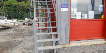 Création et pose d'un escalier extérieur à Saint-Suliac-2