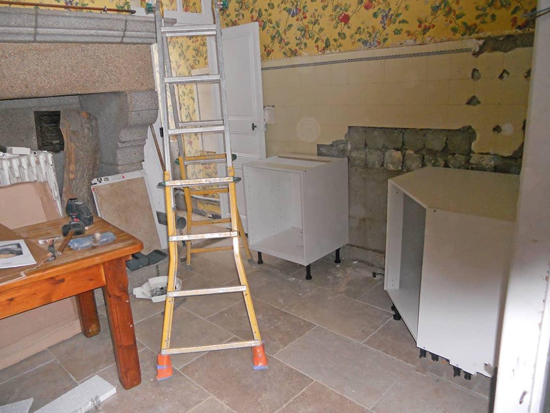 Création et pose de cuisine (chantier)